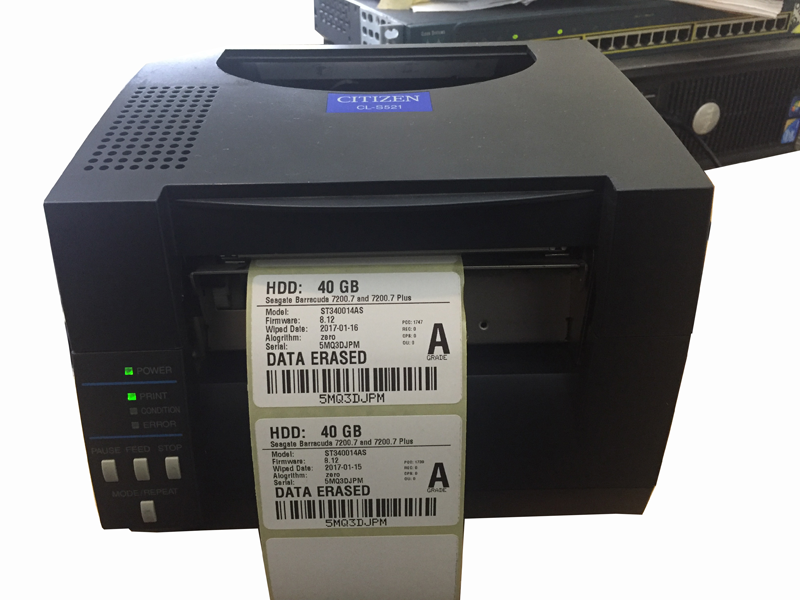 Network Data Wiping Thermal Label Printing