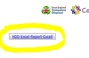 Export data wiping erasing reports to Excel spreadsheet
