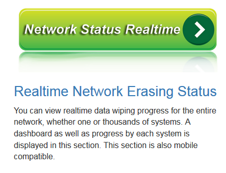Network Data Wiping Erasing Progress Live Real Time